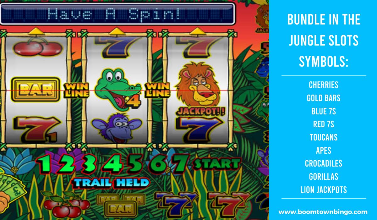 Bundle in the Jungle Slots machine Symbols