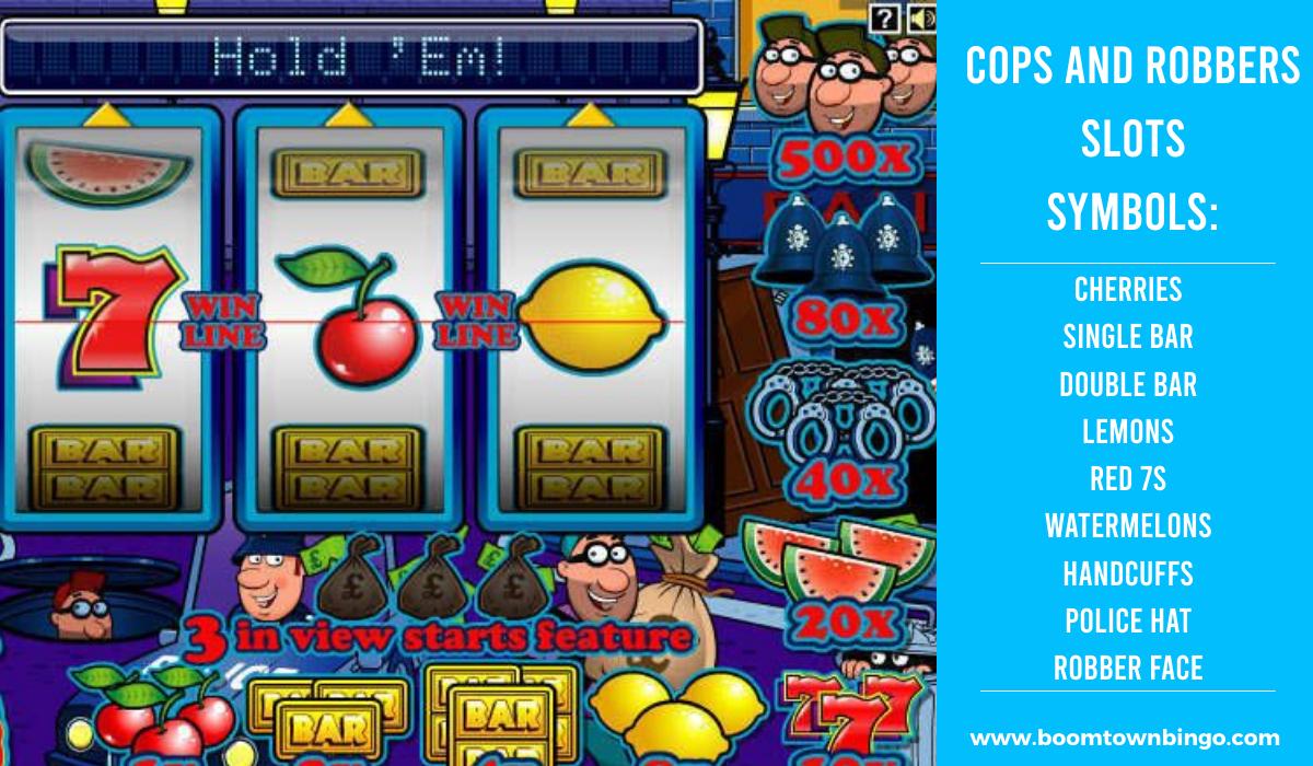 Cops and Robbers Slots machine Symbols