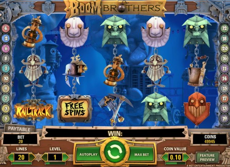 Boom brothers Slot Gameplay