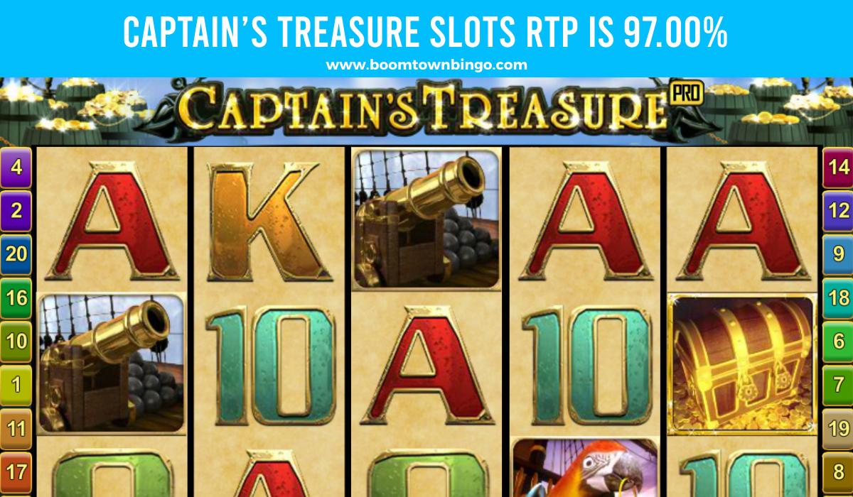 Captain's Treasure Slots Return to player