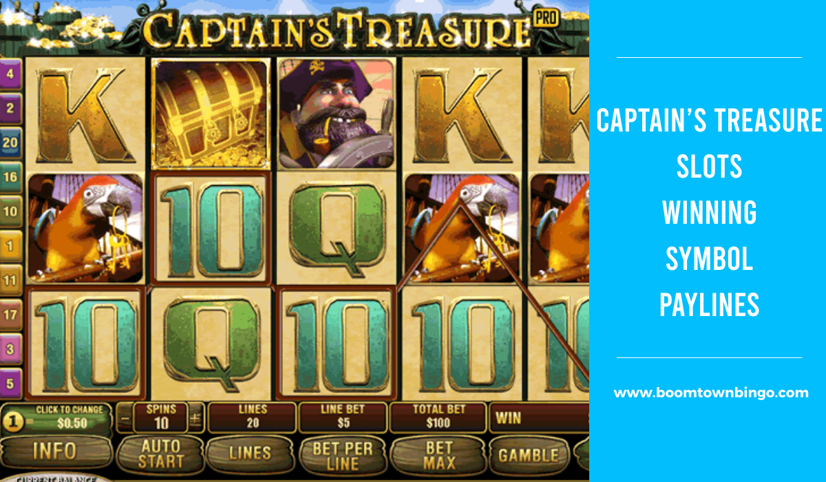 Captain's Treasure Slots Symbol winning Paylines