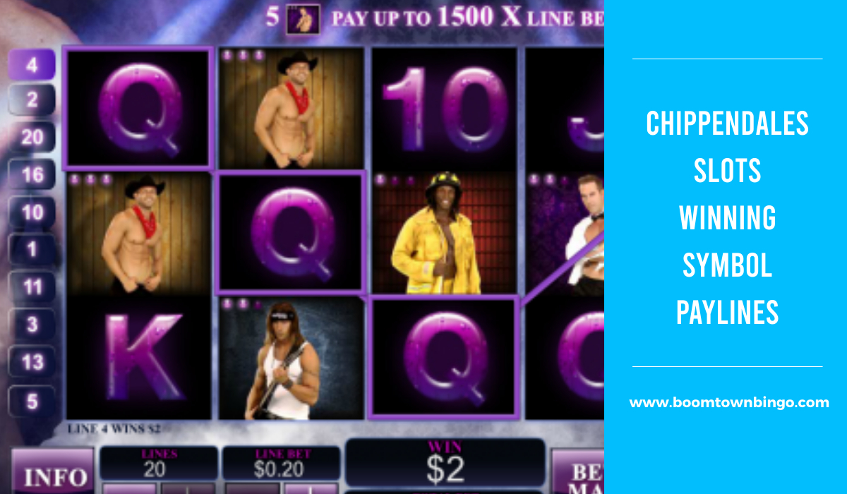 Chippendales Slots Symbol winning Paylines