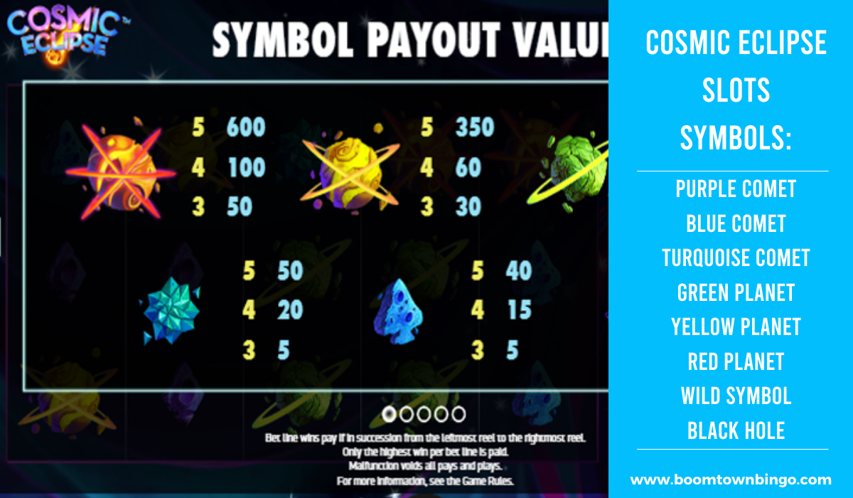 Cosmic Eclipse Slots machine Symbols