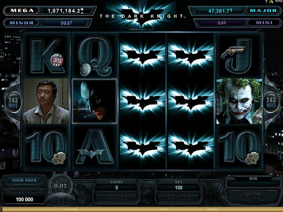 The Dark Knight Slot reels