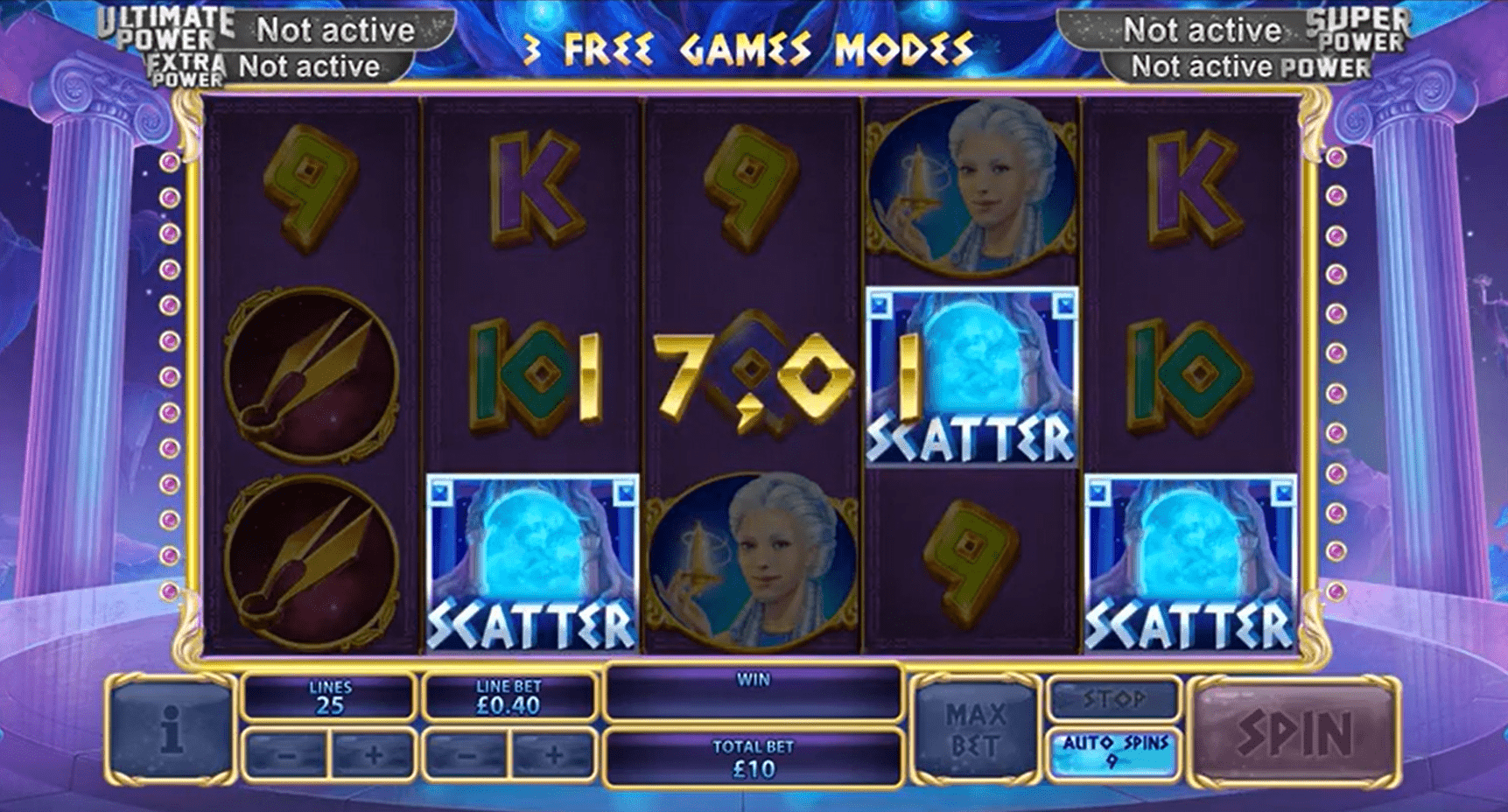Age of the Gods Fate Sisters Slot Machine Payline