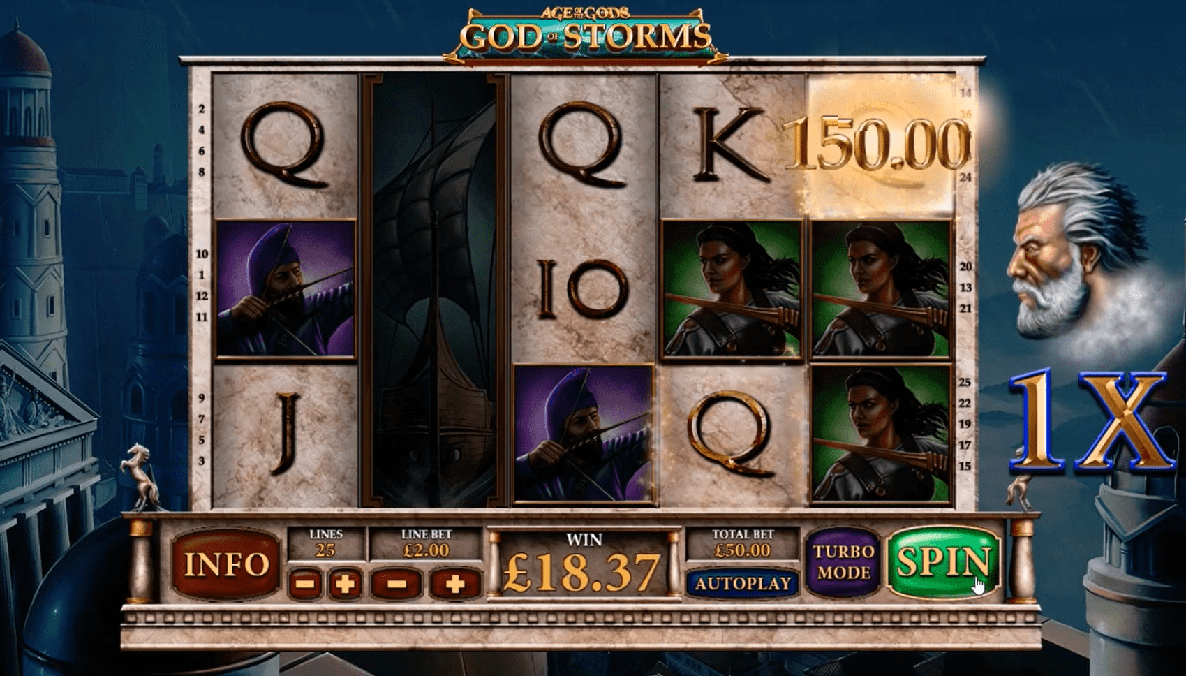 Age of the Gods Gods of Storm Slots Paylines