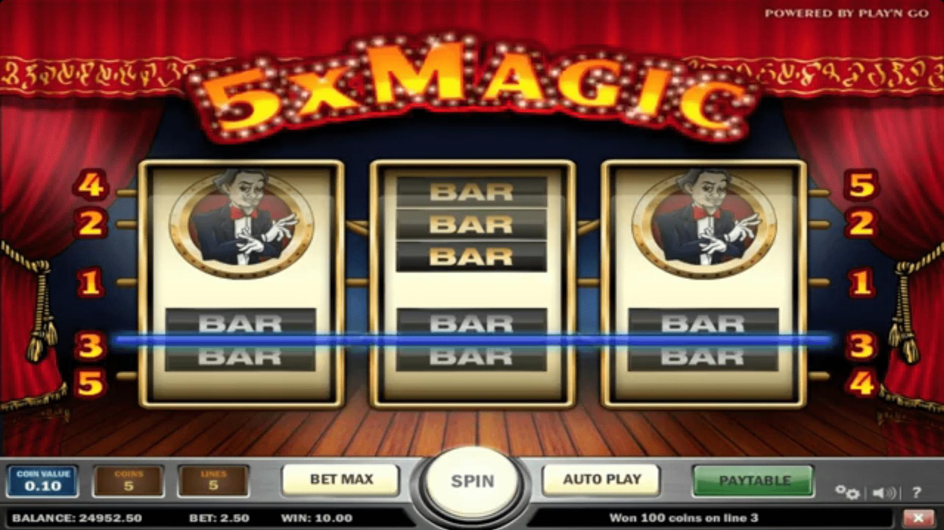5x Magic Slots Winning