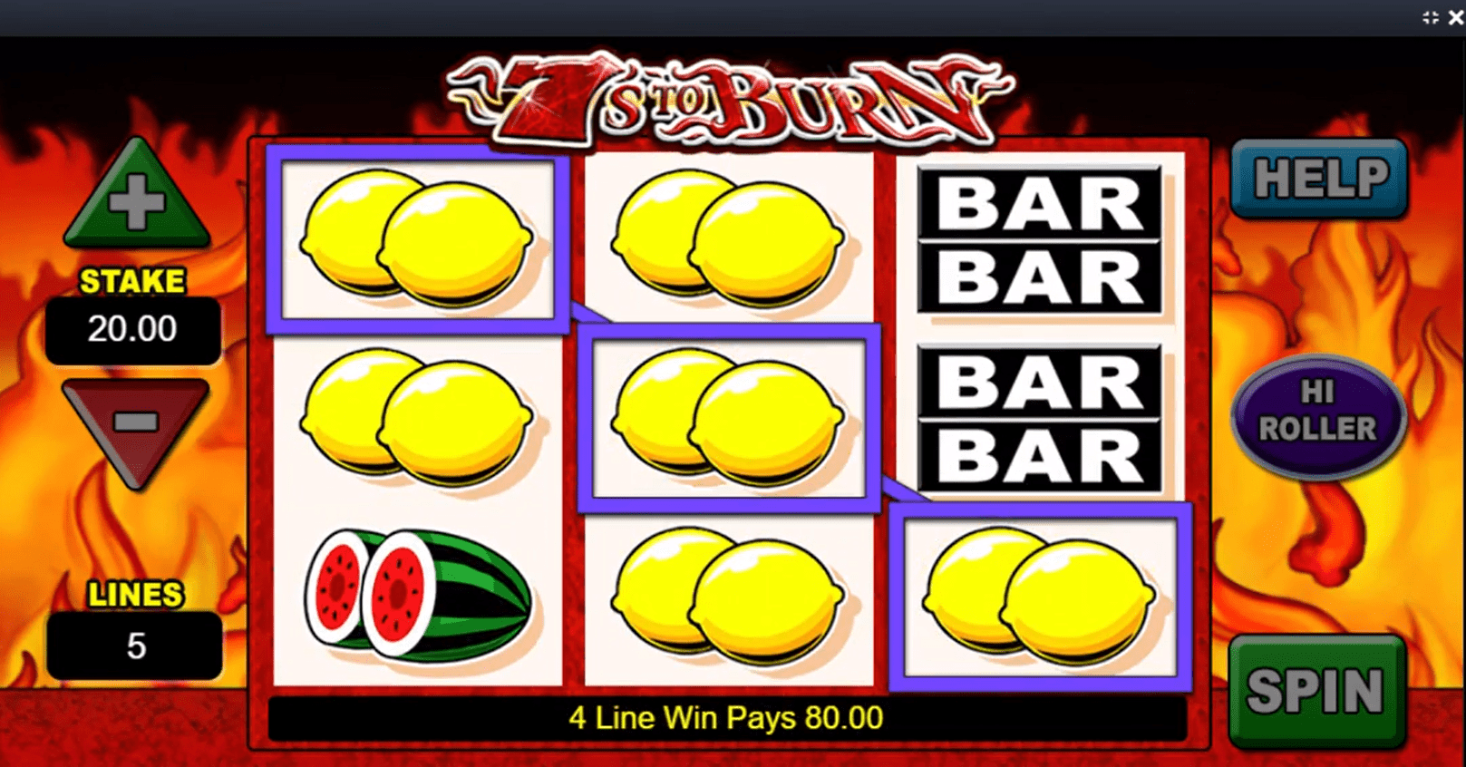 7s to Burn Slots Win
