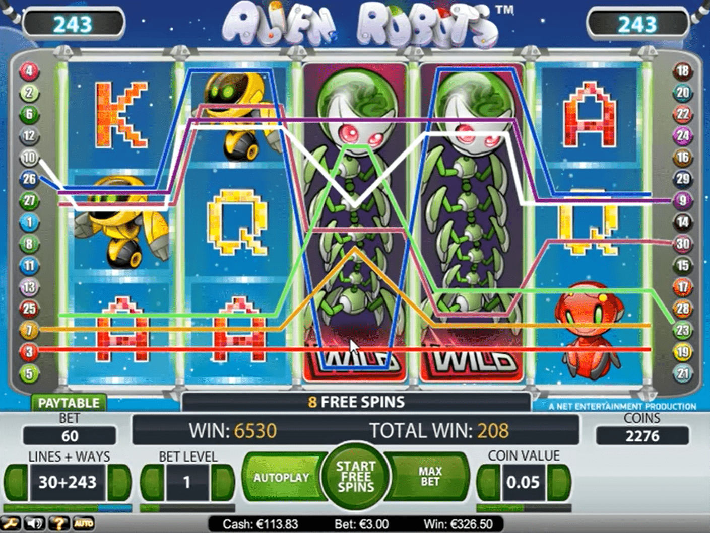 Alien Robots Slot Machine Winning