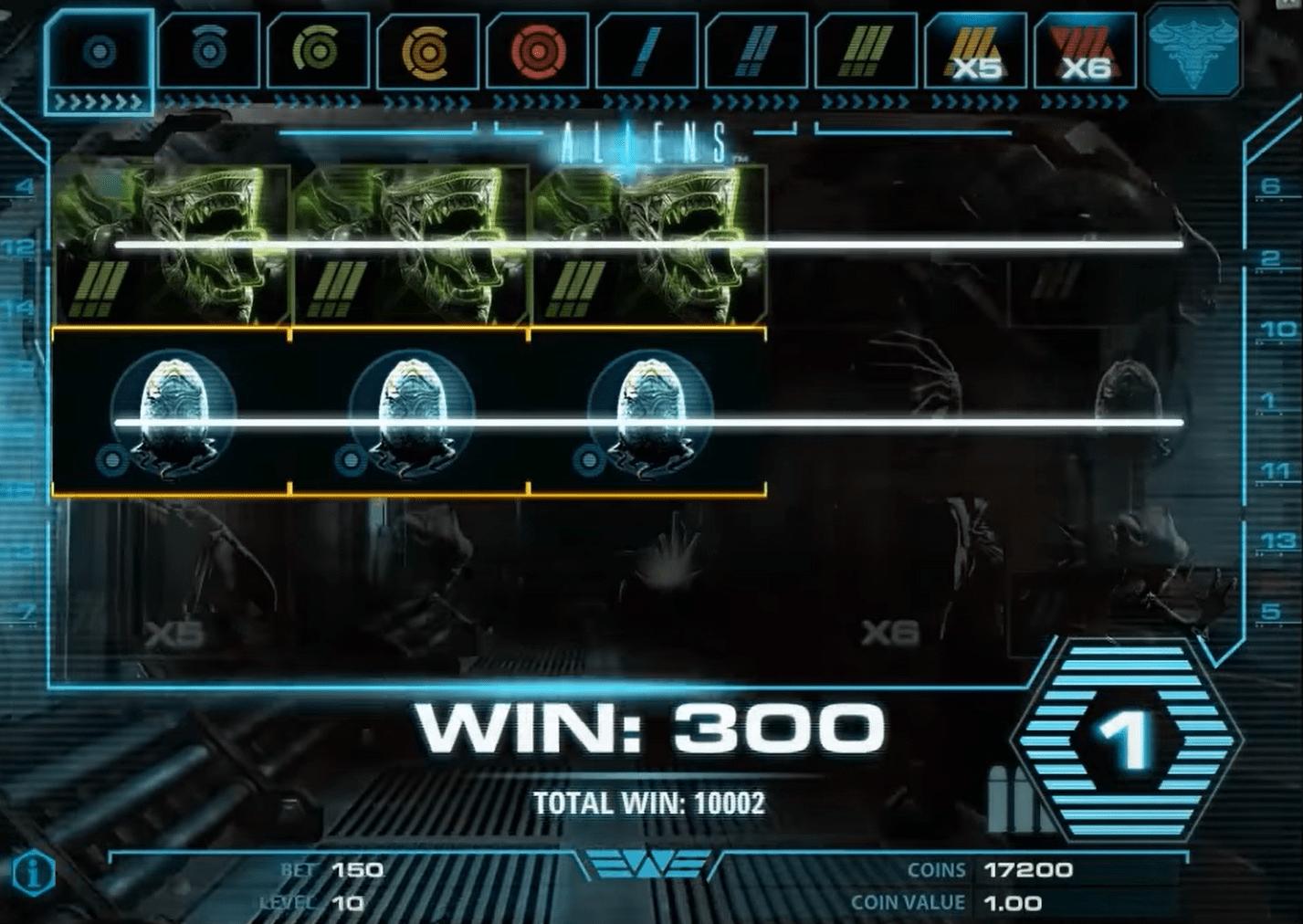 Aliens Slot Machine Winning