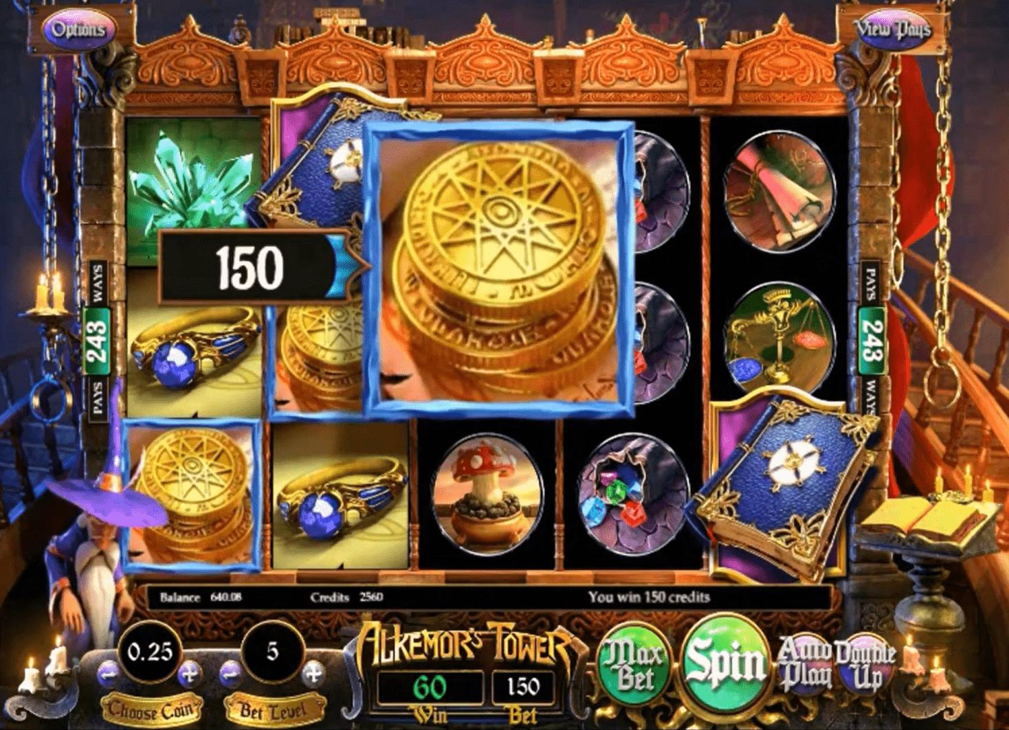 Alkemor's Tower Slot Winner
