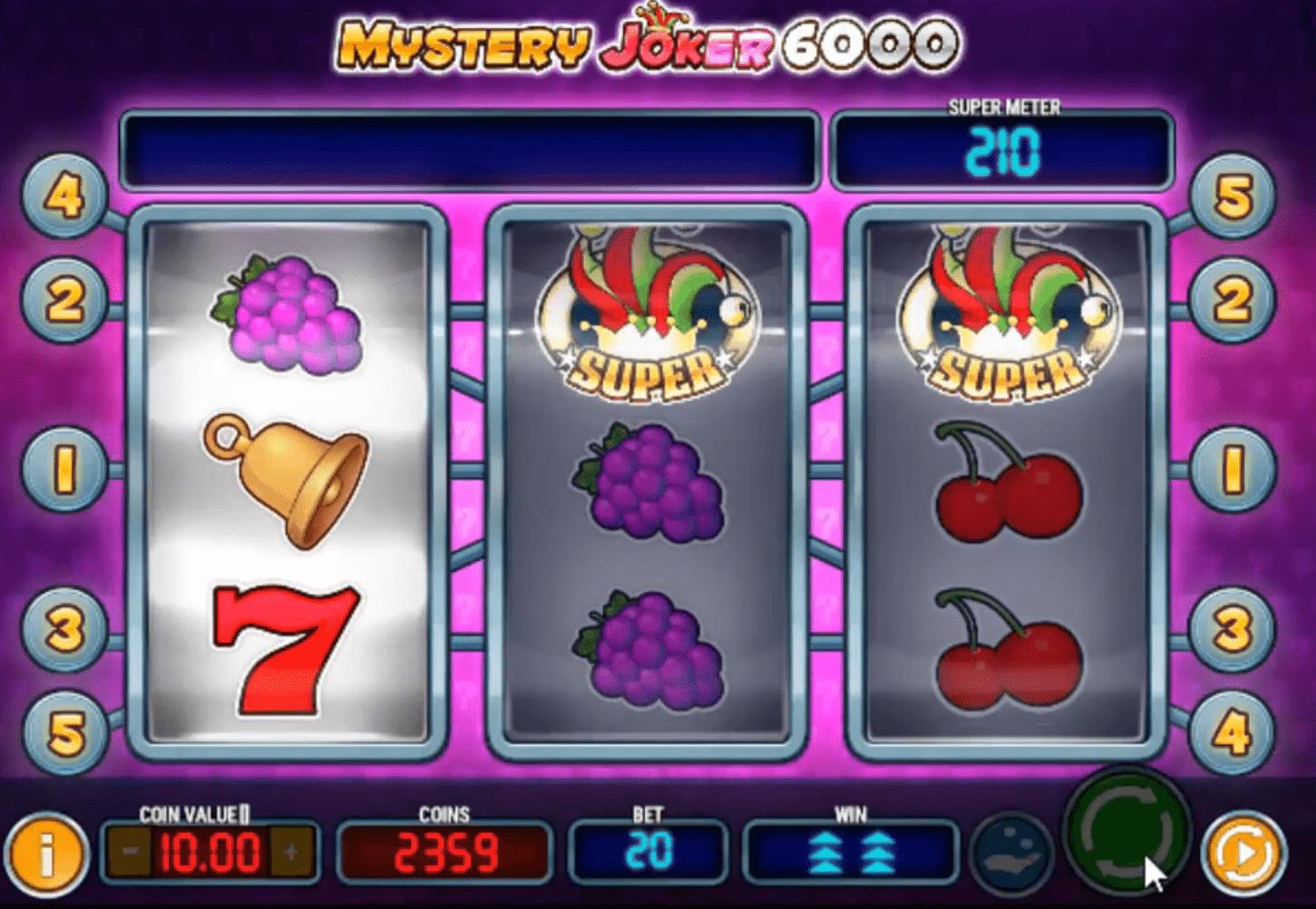 Mystery Joker 6000 Slots Payline