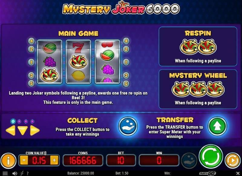 Mystery Joker 6000 Slots Symbols