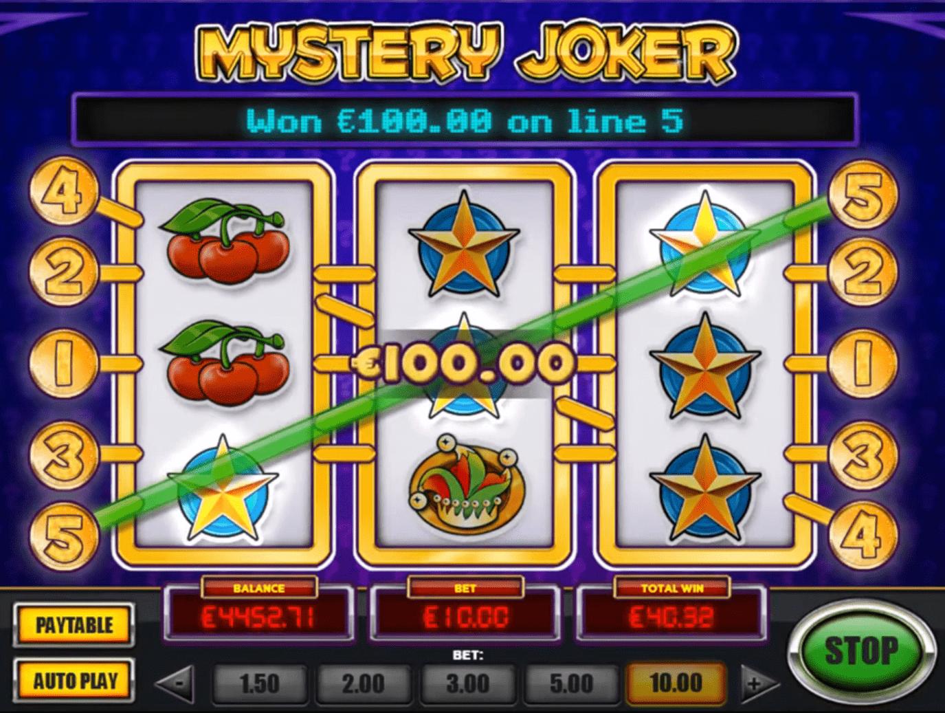 Mystery Joker Slot How to Play