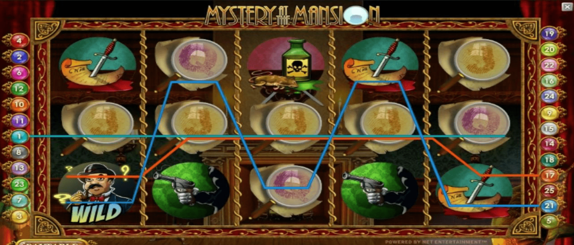 Mystery at the Mansion Slots Gameplay