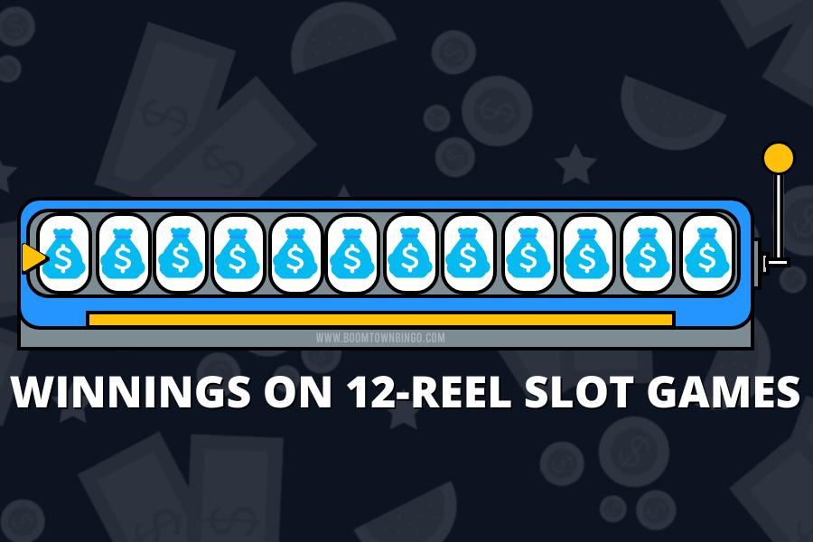 WINNINGS ON 12-REEL SLOT GAMES