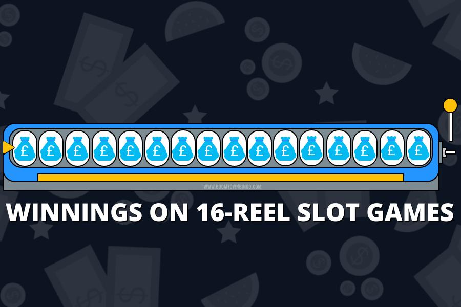 WINNINGS ON 16-REEL SLOT GAMES